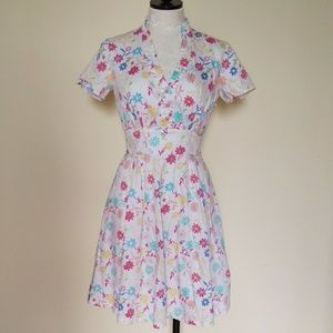 Dresses & Skirts - Vintage Floral Sundress Retro Dress